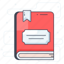 booklet, guide book, magazine, novel, reading book, story book icon