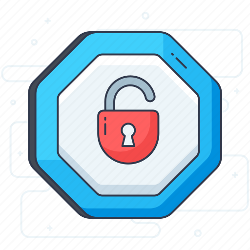 padlock, password, private lock, security lock, unlock icon