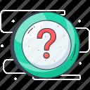 confusion, interrogative, punctuation, question, question mark icon