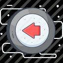 arrow, back arrow, go left, left arrow, previous icon