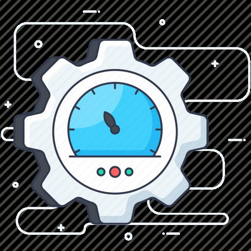 business management, dashboard, efficiency management, gauge, odometer, performance evaluation, speedometer icon