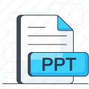 document, file extension, file format, ppt, ppt file, ppt format icon