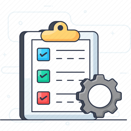 file configuration, file setting, list management, project manager, task management icon
