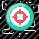 aim, focus, goal, object, scope icon