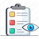 analysis, assessment, audit, estimation, evaluation, inspection icon