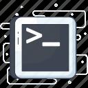coding, command, development, programming, terminal icon