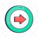 check out, directional arrow, exit arrow, right arrow, right turn icon