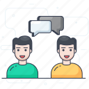 chatting, communication, conversation, discussion, negotiation icon