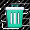 delete, dustbin, garbage can, recycle bin, rubbish bin, trash bin icon