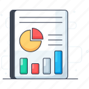 business chart, business graph, business report, data analytics, infographic, statistics icon