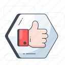 appreciation, approval, customer response, feedback, recommend, thumbs up icon