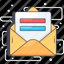 communication, correspondence, envelope, letter, mail icon