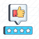 appreciation, approval, customer response, customer review, feedback, thumbs up icon