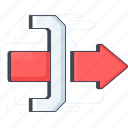 check out, exit, gateway, log off, logout, sign off, sign out icon