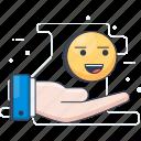 appraisal, appreciation, evaluation, expression, feedback, response icon