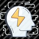artificial intelligence, brainstorming, brian power, creative brain, creative thinking, thinking icon