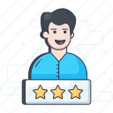 customer ratings, customer reviews, customer satisfaction, feedback, user experience icon