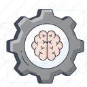 artificial intelligence, lateral thinking, machine learning, neural network icon