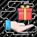 gift, gift box, present, present box, reward, surprise icon