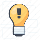 creative idea, idea, innovation, light bulb, smart idea icon