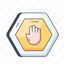forbidden, hand gesture, stop, stop sign, stop symbol icon