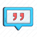 inverted commas, quote marks, quotes, speech marks, talking marks icon