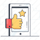 appreciation, approval, customer response, feedback, review, thumbs up icon