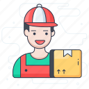 delivery boy, delivery man, delivery person, distributor, supplier icon
