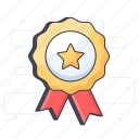 award badge, badge, quality, ribbon badge, star badge, winner badge icon