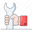 repair tool, service, spanner, tech tool, technical tool, wrench icon