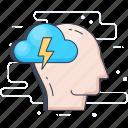 anxiety, headache, mental health, stress, tension icon