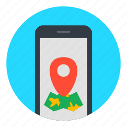 location, map, maps, navigator, phone icon