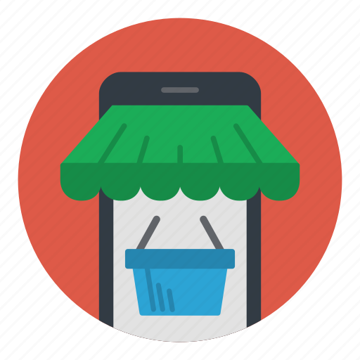 cart, commerce, ecommerce, mobile, phone, shopping icon