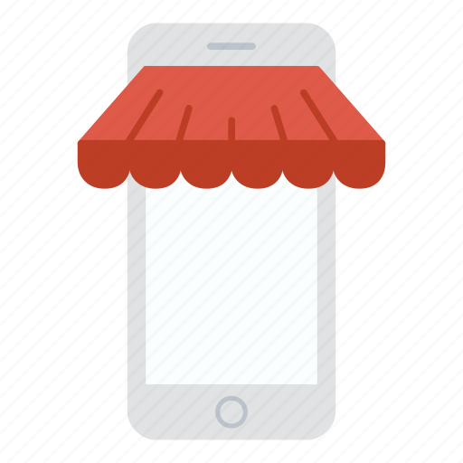 iphone, mobile, phone, shop, shopping, store icon