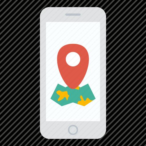 iphone, location, map, maps, navigator, phone icon