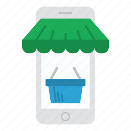 cart, ecommerce, iphone, mobile, phone, shopping, store icon