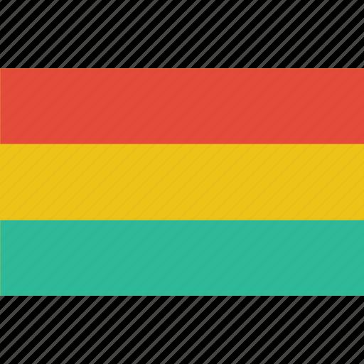 bandera, bolivia, escudo, flag, flat design, latina, latino icon