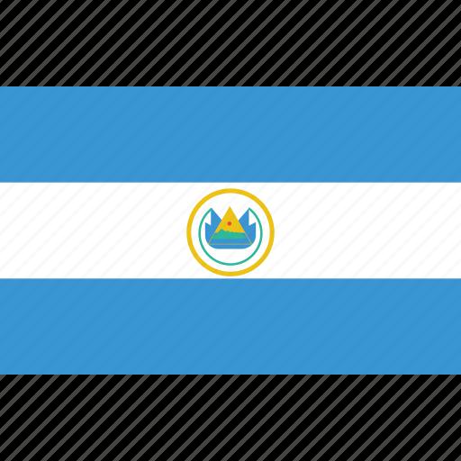 bandera, el, flag, flat design, latina, latino, salvador icon