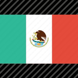 bandera, escudo, flag, flat design, latina, latino, mexico icon