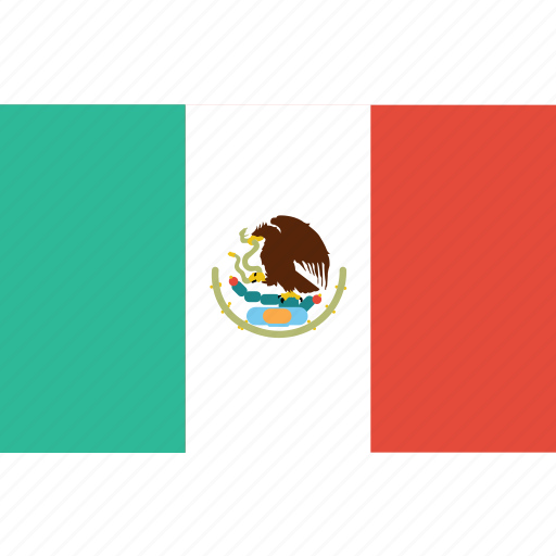 bandera, escudo, flag, latina, latino, mexico icon