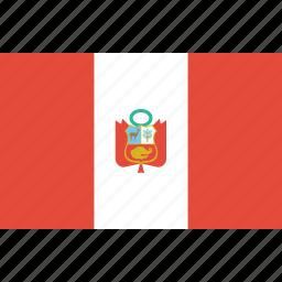 bandera, escudo, flag, flat design, latina, latino, peru icon