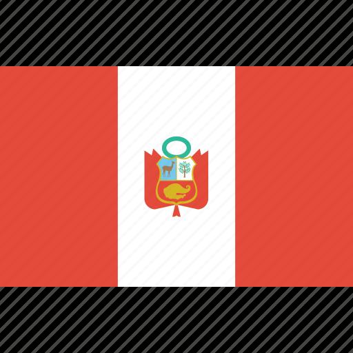 bandera, escudo, flag, latina, latino, peru icon