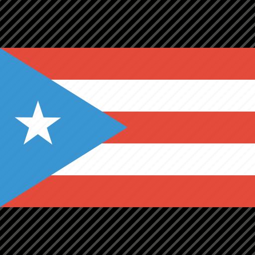 bandera, flag, flat design, latina, latino, puerto, rico icon