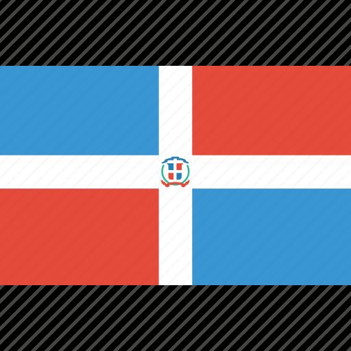 bandera, dominicana, flag, flat design, latina, latino, r icon