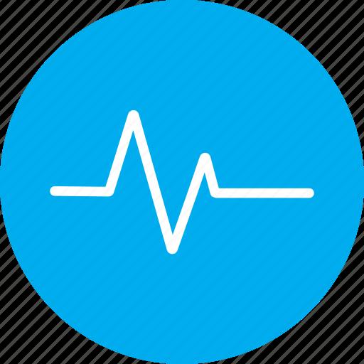 ecg, ekg, heart rate, medical, pulse icon