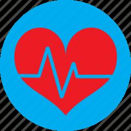 ecg, ekg, heart, heart rate, pulse icon