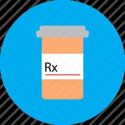 drugs, medical, medication, medicine, pharmacy, pill bottle, prescription icon