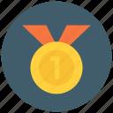 achievement, award, badge, medal, reward, star, winner icon icon