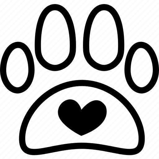 animal, dog, foot, heart, life, love, pet icon