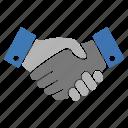agreement, hand shake, hands, shake icon